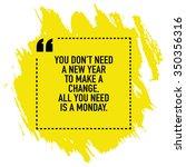 motivational new year change... | Shutterstock .eps vector #350356316