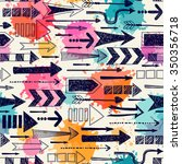 seamless pattern with arrows. | Shutterstock .eps vector #350356718