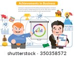 achievements in business ... | Shutterstock .eps vector #350358572