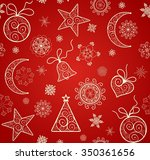 red wallpaper for winter... | Shutterstock .eps vector #350361656