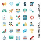 seo and web development icons.  ... | Shutterstock . vector #350363582