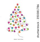 Colorful Christmas Tree Made O...