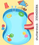 illustration of a pool... | Shutterstock .eps vector #350400086