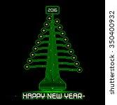 techno design of a christmas...   Shutterstock .eps vector #350400932