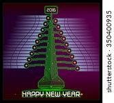 techno design of a christmas...   Shutterstock .eps vector #350400935