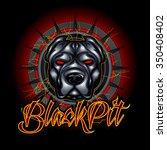 pit bull head mascot | Shutterstock .eps vector #350408402