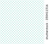 White   Aqua Polka Dot Pattern...
