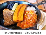 traditional costa rican casado... | Shutterstock . vector #350424365
