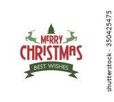 merry christmas label  ... | Shutterstock .eps vector #350425475