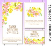 romantic invitation. wedding ... | Shutterstock .eps vector #350448752
