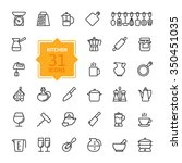 outline icon collection  ... | Shutterstock .eps vector #350451035