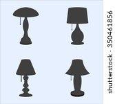 black desk lamp | Shutterstock .eps vector #350461856
