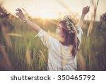 young asian woman posing in... | Shutterstock . vector #350465792