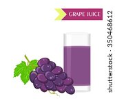 illustration with juicy and... | Shutterstock .eps vector #350468612