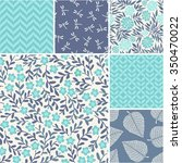 floral vector seamless patterns ... | Shutterstock .eps vector #350470022