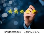 review  increase rating or... | Shutterstock . vector #350473172