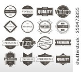 label vintage collection. | Shutterstock .eps vector #350473355