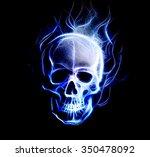 Skull. Glass And Fractal...