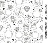 vector hand drawn seamless... | Shutterstock .eps vector #350488022