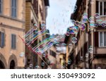 movement bubbles floating in... | Shutterstock . vector #350493092