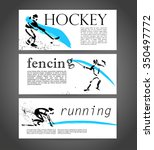 sport advertising template with ... | Shutterstock . vector #350497772