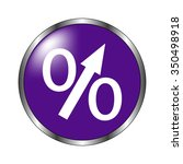 percent   vector icon  violet... | Shutterstock .eps vector #350498918