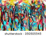 people cheering abstract... | Shutterstock . vector #350505545