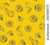 hand drawn lemon illustration.... | Shutterstock .eps vector #350508575