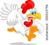 cute rooster cartoon | Shutterstock .eps vector #350515796