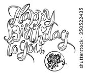 the inscription on his birthday.... | Shutterstock .eps vector #350522435