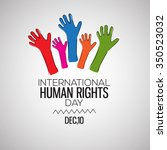 international human rights day... | Shutterstock .eps vector #350523032