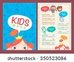 vector kids menu template and... | Shutterstock .eps vector #350523086