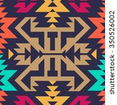 seamless vector tribal pattern... | Shutterstock .eps vector #350526002