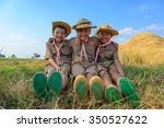 boy scouts  | Shutterstock . vector #350527622