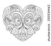vector decorative monochrome... | Shutterstock .eps vector #350534462