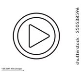 play line icon | Shutterstock .eps vector #350538596