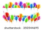 a balloons banner sign with... | Shutterstock .eps vector #350544695