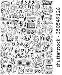 music doodles   Shutterstock .eps vector #350549126