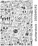 music doodles | Shutterstock .eps vector #350549192