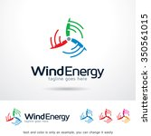 wind energy logo template... | Shutterstock .eps vector #350561015