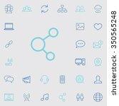 social media outline  thin ...   Shutterstock .eps vector #350565248