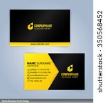 black and yellow modern... | Shutterstock .eps vector #350568452