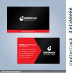 black and red modern business... | Shutterstock .eps vector #350568686