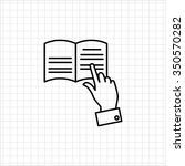 icon of mans hand tracing text... | Shutterstock .eps vector #350570282