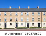 row of new english terraced... | Shutterstock . vector #350570672
