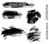 vector set of grunge brush... | Shutterstock .eps vector #350581946