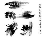 vector set of grunge brush... | Shutterstock .eps vector #350581952