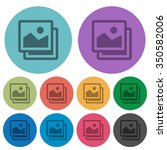 color images flat icon set on...