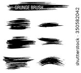 vector set of grunge brush... | Shutterstock .eps vector #350582042