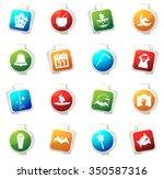 collection of halloween...   Shutterstock .eps vector #350587316